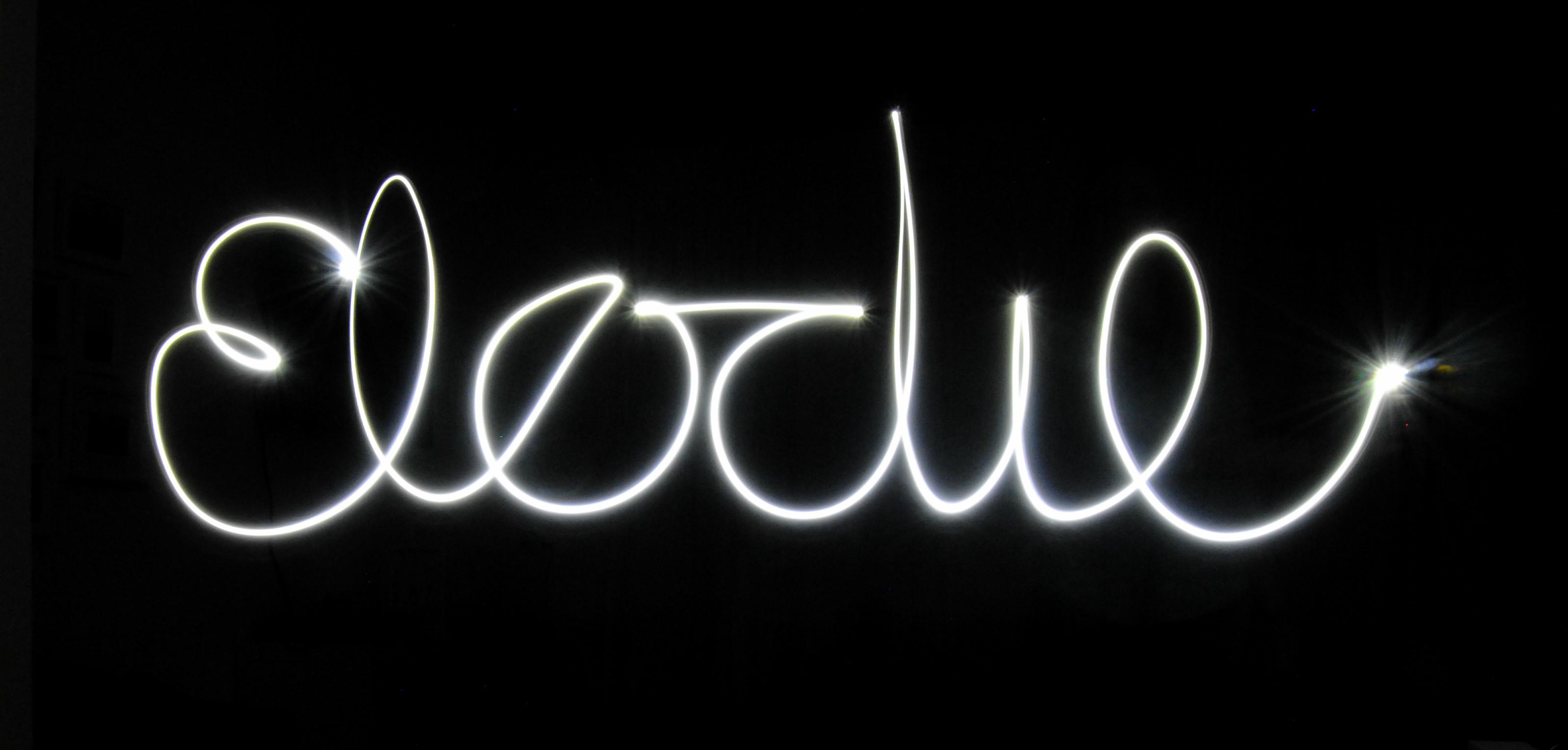 Elodie met licht