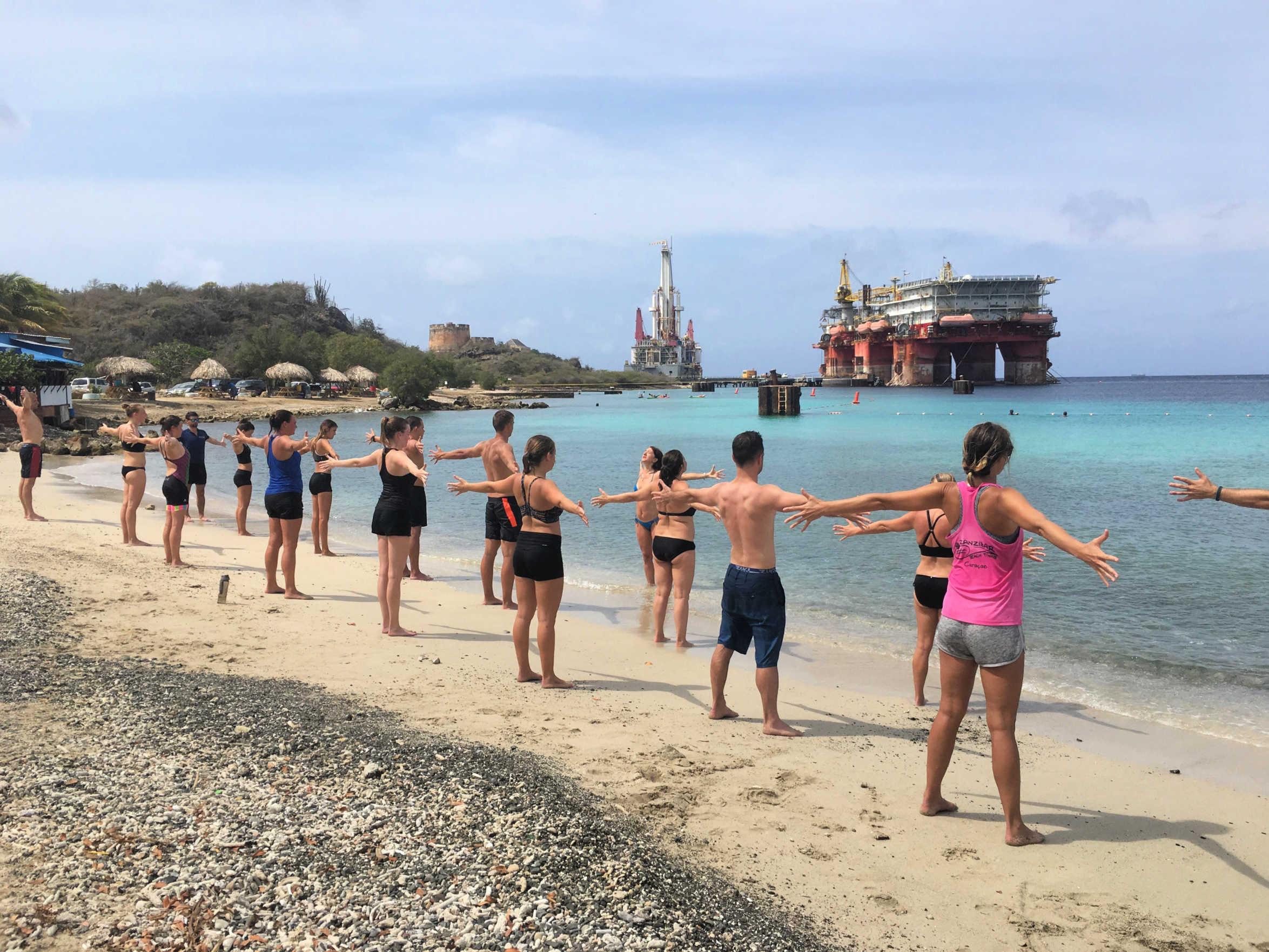 Bootcamp Curacao, buiten sporten