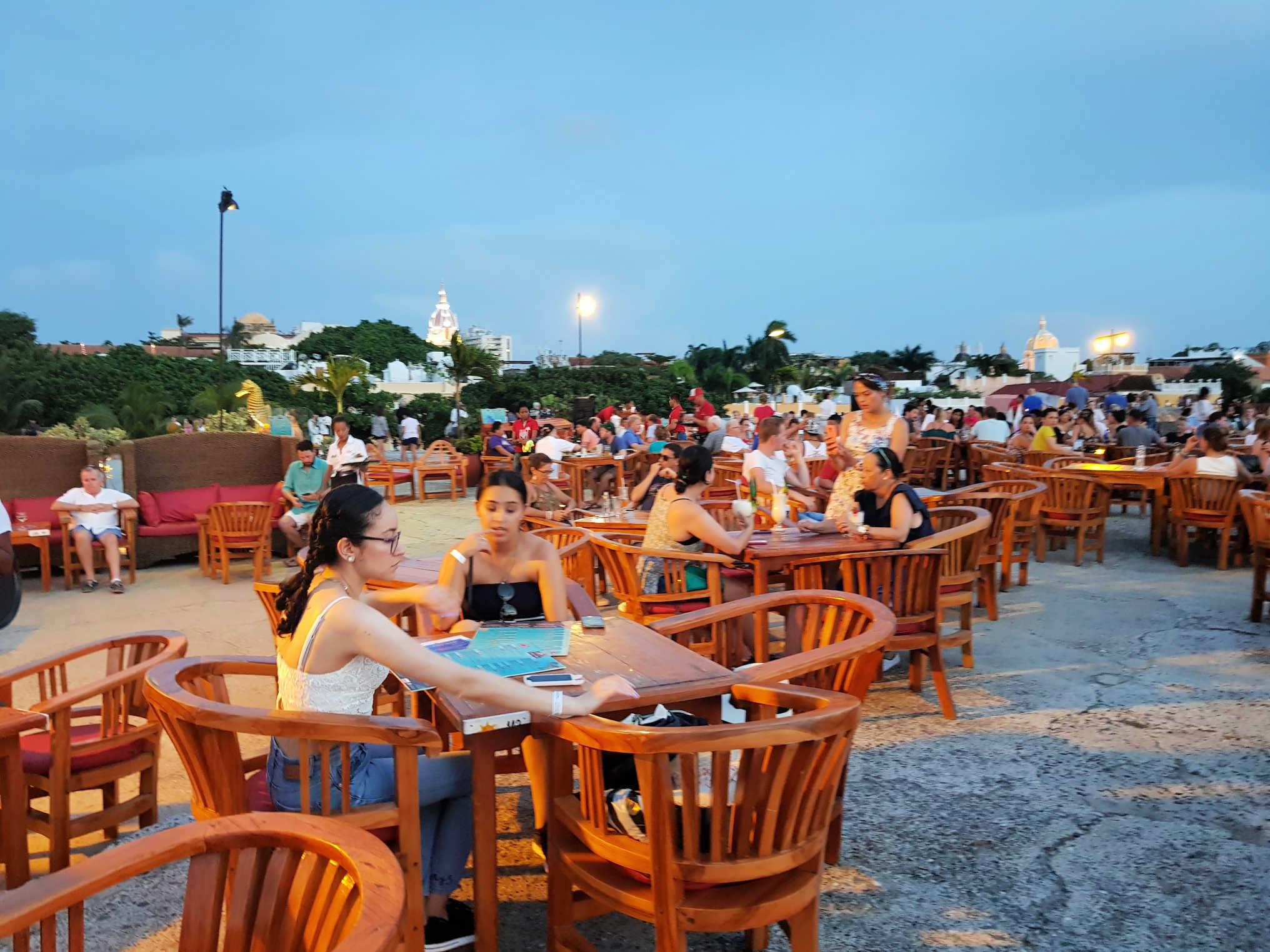 Reisblog Colombia Cartagena Cafe del Mar