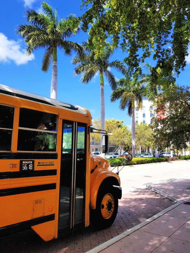 Miami Amerikaanse schoolbus