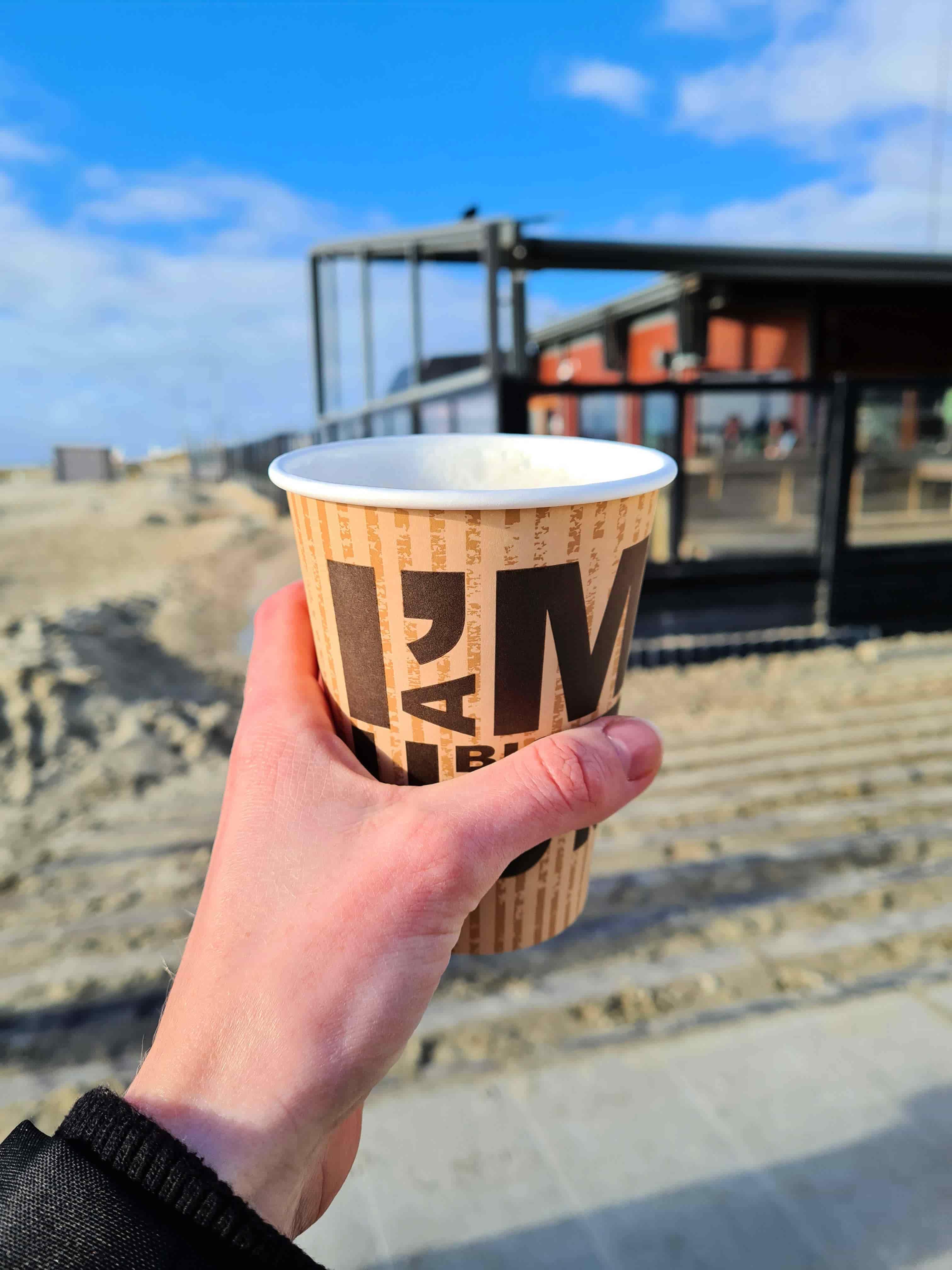 IJmuidenstrand koffie